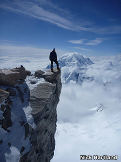 Image of Steve Williams climbing in the Himalayas